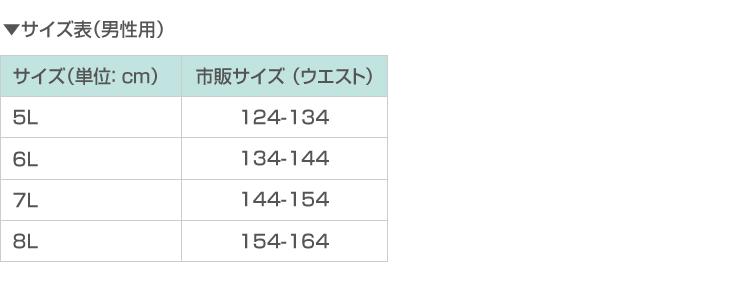サイズ表(男性用)